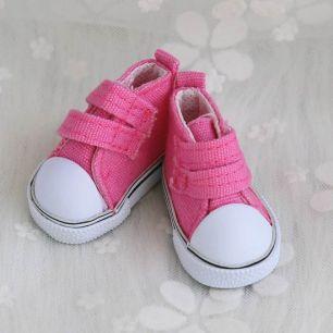 Обувь для кукол Кеды 5 см на липучках (ярко-розовые)